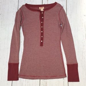 Mossimo button down Henley top